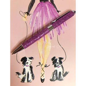 ♠️ kate spade Boxed Pink Glitter Ballpoint…